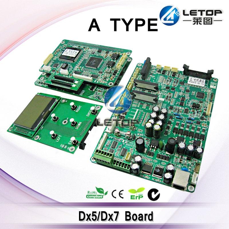 A set Dx5 Dx7 Mainboard And Head Board Control Board Keyboard For Single Head Eco Solvent Printer Head Board