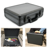 Portable Aluminum Tool Box Impact Resistant Safety Case with Pre cut Foam Lining Free Shipping