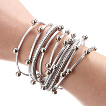 Charm Leather Bracelet for Femme Party Jewelry Gift