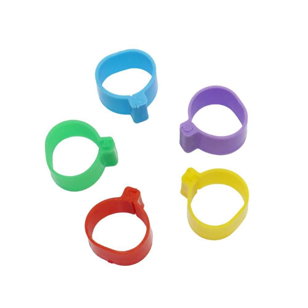 35 pz diametro Interno 2.0 cm Anello di Pollo Gallina Piccione Gamba Band Pollame Colomba Uccelli Quaglia Oca Pulcini Anatra Pappagallo anelli Clip di