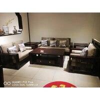 Living Room Sofa set Home Furniture Antique Redwood Furniture sectional sofas U shape big muebles de sala moveis para casa NM002
