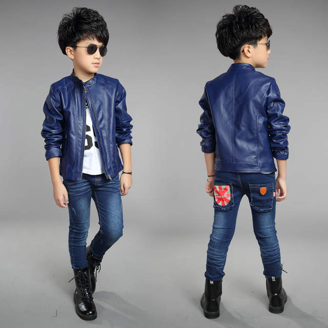 28eb47dbe Online Shop toddler leather jacket 2018 new baby boy jackets solid ...