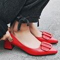 AIWEIYi Весна Лето Обувь Из Натуральной Кожи Женщины Острым Носом Скольжения Пальца Ноги на Насосы Sapato feminino Лакированные Ботинки