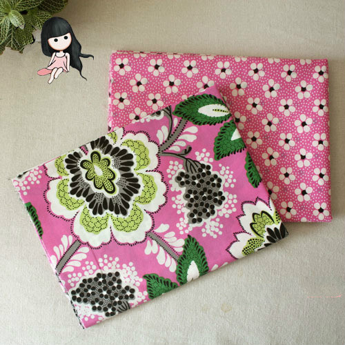 50*150cm Pink Floral Cotton Brocade Fabric Meter Handmade African Fabrics Patchwork Sewing Bedding Textiles Telas Costura Felt