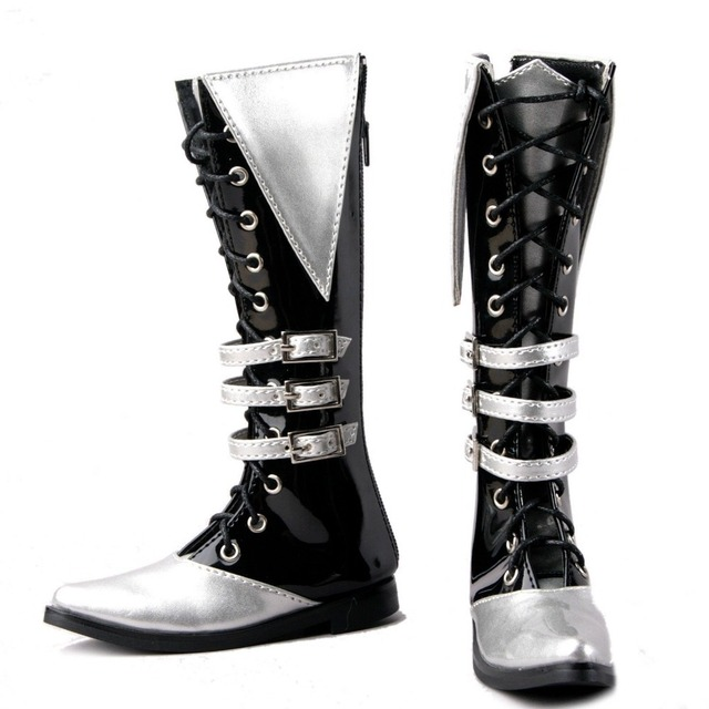 [wamami] 54# Silver 1/3 SD DOD BJD Dollfie Synthetic Leather Boots/Shoes