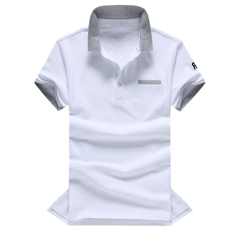 Men   Polo   Shirt M-3XL Slim   Polo   Shirt Summer Male Contrast Color Short Sleeve Shirt Casual Jerseys   Polo   Shirts Plus Size T6