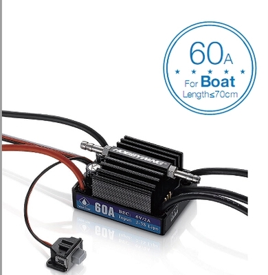 F18581 Hobbywing SeaKing V3 Waterproof Speed Controller 60A 2-3S Lipo 6V/2A BEC Brushless ESC for RC Racing Boat