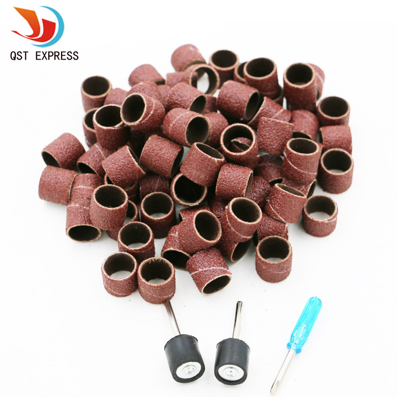 103pcs / Set 1/2 Sanding Bands Kit + 2 Sanding Drum Mandrels For Dremel Rotary Tools High Quality + 1 Screwdrivers