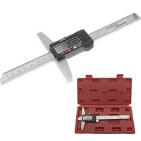 150 mm 6 depth vernier caliper micrometer gauge 0 150mm digital vernier caliper stainless steel electric digital depth gauge