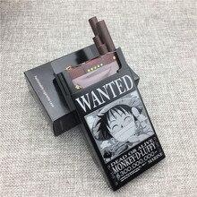 LF012 алюминиевый сплав сигареты чехол лазерной резной один кусок хотел Луффи Ace Зоро не выцветает сигареты Коробки переносные коробки