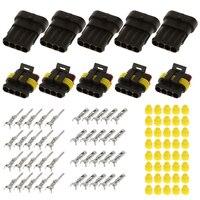 15 Sets impermeable sellado hembra/macho eléctrico Alambres conector 2/3/4 Pasadores camino para coche auto