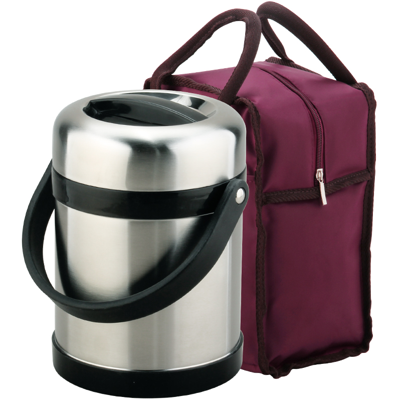 Adult 304 Stainless Steel Heat Insulation Barrel High-capacity Double-deck Long Heat Preservation Lunch Box цена и фото