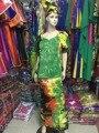 2016 традиционные Африканские женщины одежда Базен riche платье для женщин моды отдыха вышитые стиль костюм-тройку M2261-1