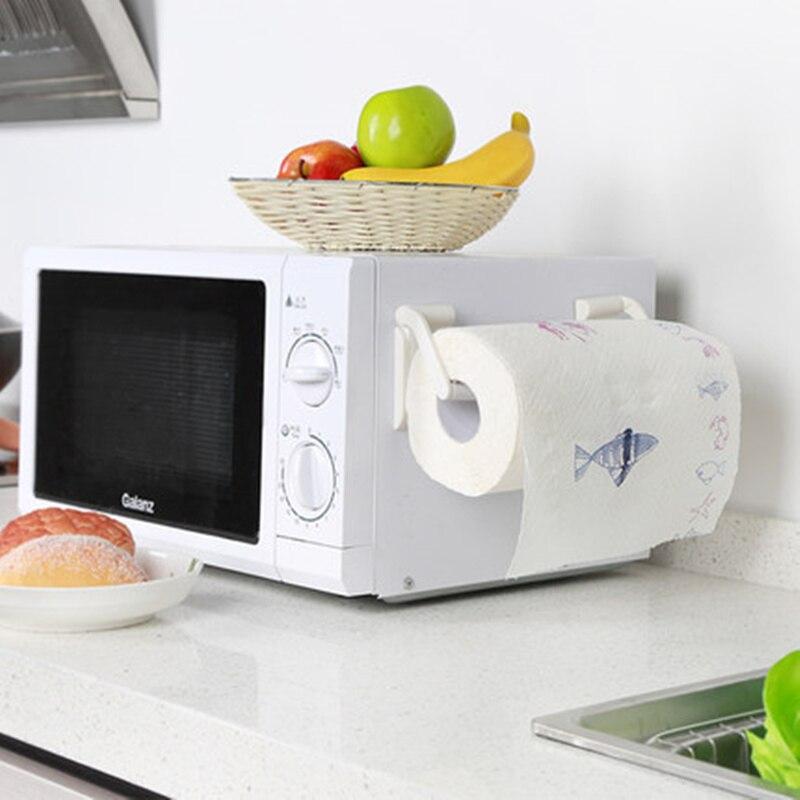 magnetic towel rack for refrigerator adjustable kitchen paper towel holder bathroom tissue. Black Bedroom Furniture Sets. Home Design Ideas
