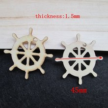 Free shipping 42mm 80pcs/bag wholesale high quality pendant die cutting Angle  wooden Christmas decorations 017001038