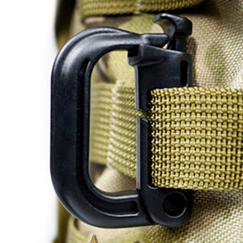 Carabiner Ring Clip Hook Rock Climbing Hiking Keychain Locking Buckle Tactical Carabiner Molle