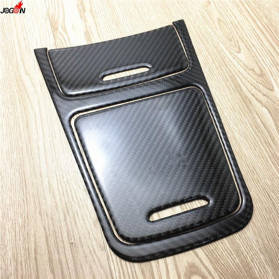 Garniture de couverture de panneau de porte-cendrier de Cigarette de boîte de stockage de Console centrale pour Mercedes Benz GLA classe X156 2013-2016 Fiber de carbone