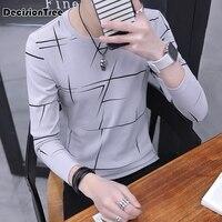 2019 summer korean harajuku black white striped t shirt men women unisex loose extra long sleeve couple t shirt