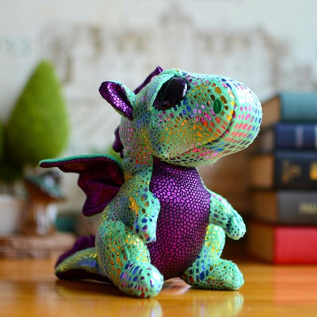 Quente Gorro Vaias Ty Olhos Grandes Crianças de Pelúcia Brinquedos de Pelúcia faísca Cinza Verde Dragão Presentes de Natal Bonito Kawaii Animais Fofos bonecas