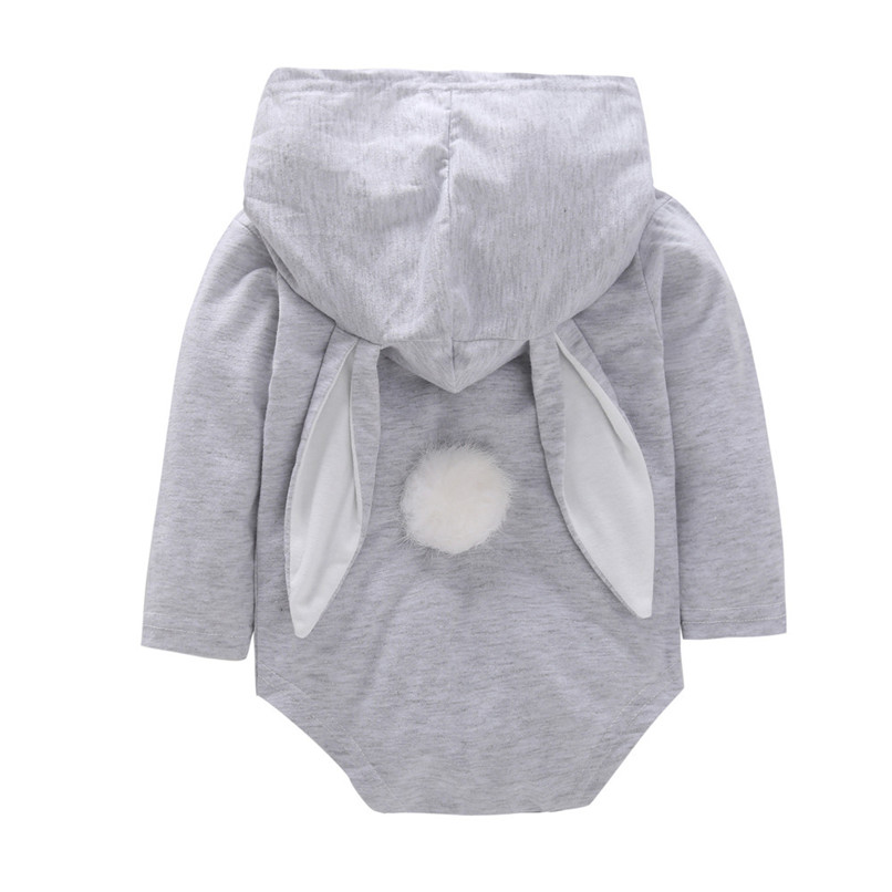 2018 Baby Clothes Baby Romper Toddler Infant Baby Girl Boy Cartoon Rabbit Ear Long Sleeve Hooded Jumpsuit Romper Clothes JY12#F (5)