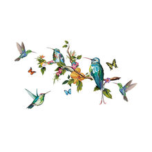 Wall Sticker Tropical Jungle Parrot Pattern Bedroom Living Room Mobile Creative Affixed With Decorative Wall Window Decoration(China)
