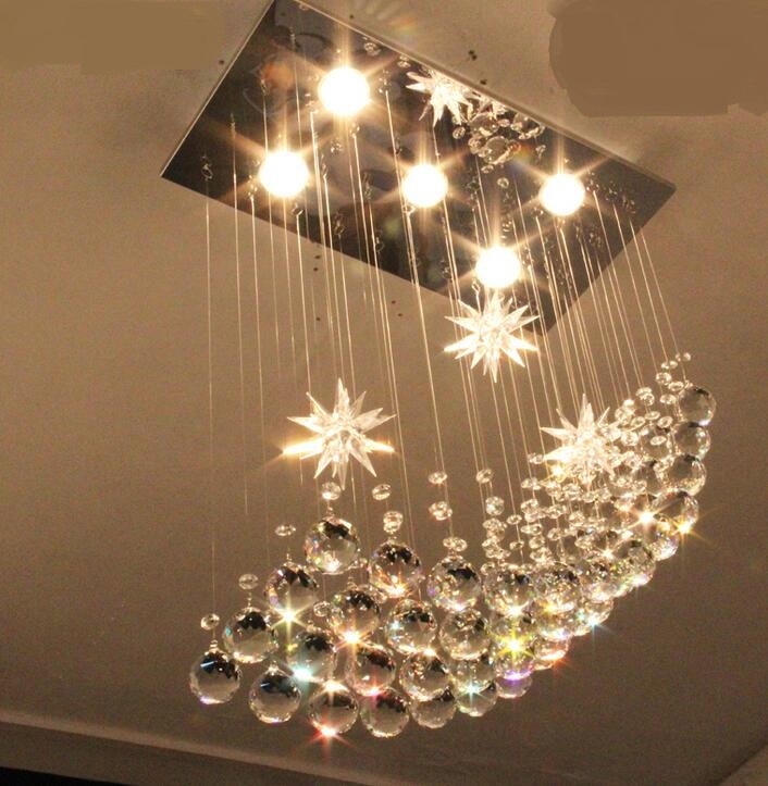 Moon Lights Bedroom: Moon Pendant Light Pendant Crystal Lamp Restaurant Lamp