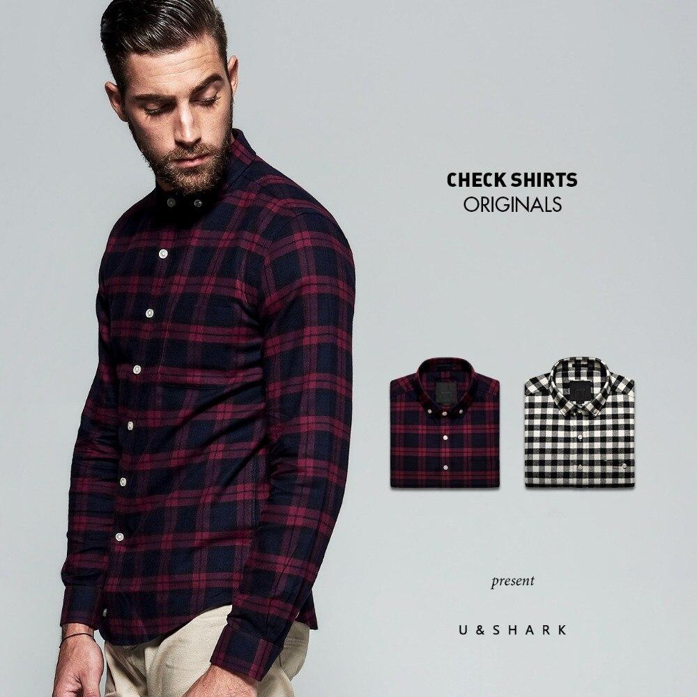 Aliexpress.com : Buy U&SHARK 2017 New Mens Cotton Flannel Shirts ...