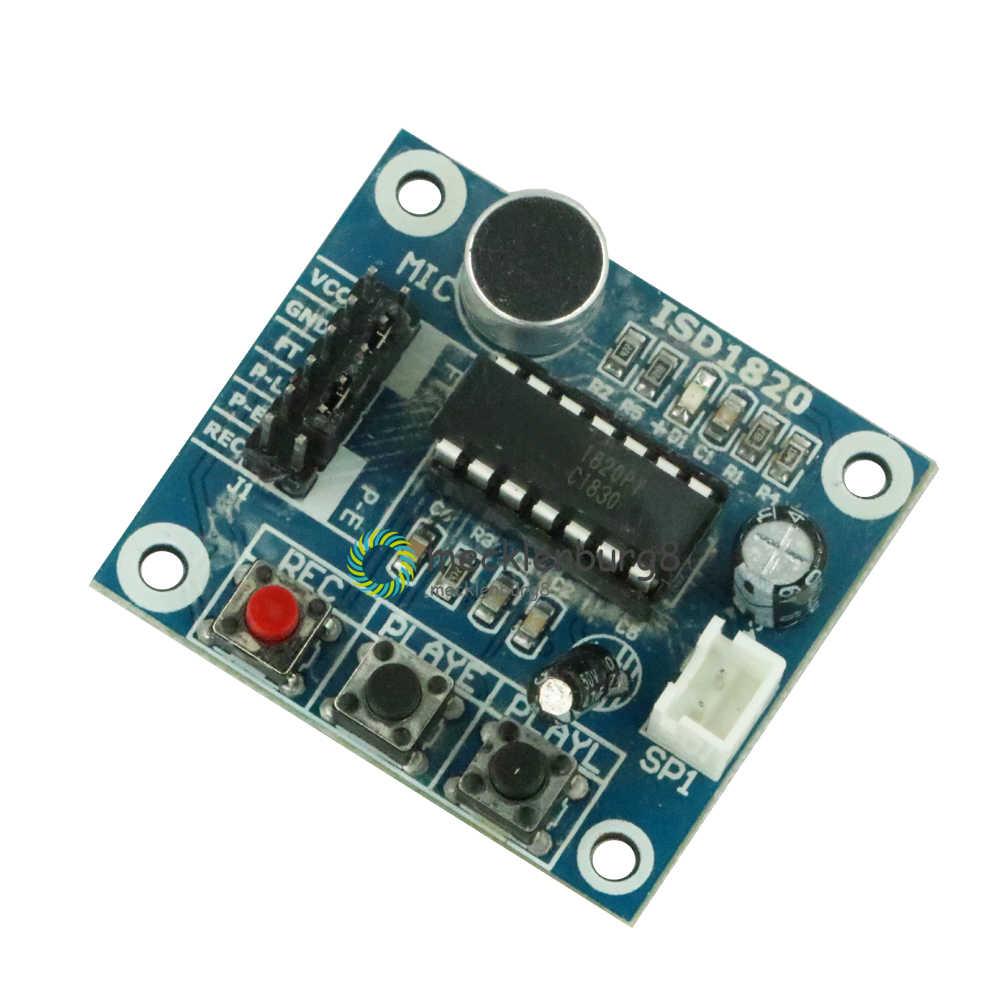 ISD1820 Rekaman Modul Suara Pemutaran Modul MIC Suara Audio Telediphone Papan dengan Mikrofon + Loudspeaker UNTUK ARDUINO 3-5V