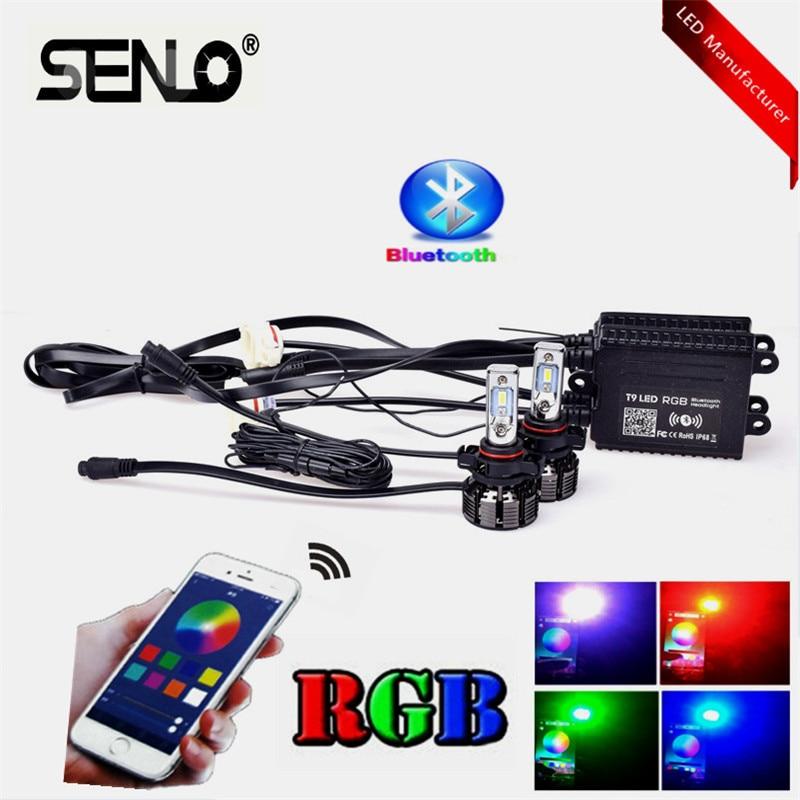 2019 H7 ampoules de phares LED nouvelle haute puissance H4 voiture RGB contrôle App Bluetooth H8 H11 HB3 hb4 5202 H16 5000LM voiture phare lampe