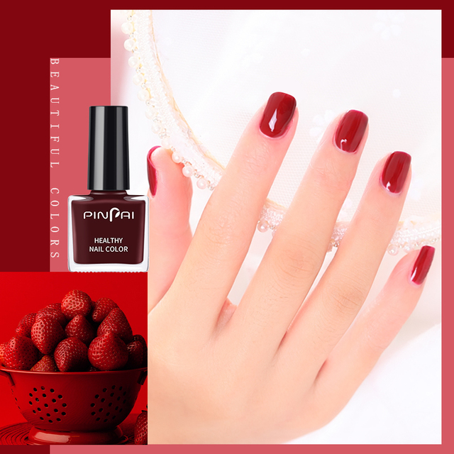 PinPai 6ml Water Based Peel Off Nail Polish Long Lasting Easy Remove Nail Paint Lacquer Enviromental Manicure Red Color Varnish 3
