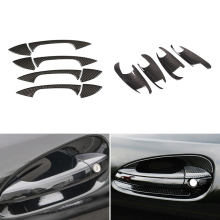 Carbon Fiber Texture Car Outer Door Handle /Bowl Cover Trim For Mercedes Benz C E GLK ML CLA Class W166 W117 X204 W204 W212 W246