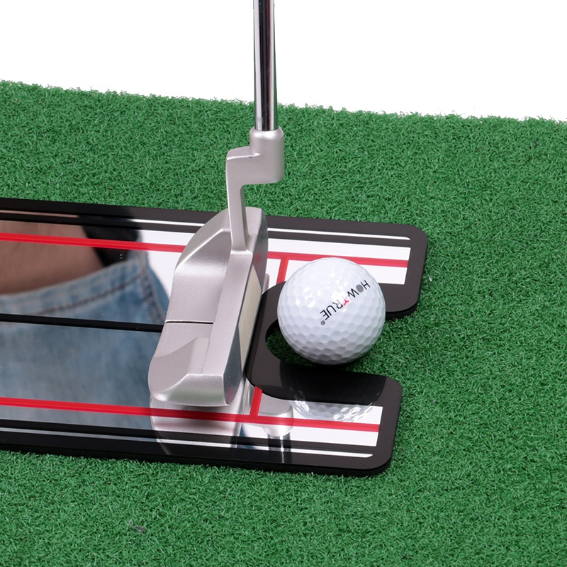 Golf Swing Straight Practice Golf Putting Mirror Alignment Training Aid Swing Trainer Eye Line Golf Accessories 32 X 14.5cm