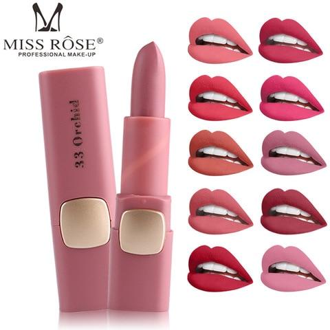 Pk Bazaar hot makeup matte miss rose brand matte lipstick