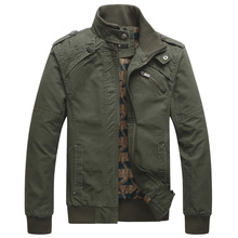 Spring Autumn Hot Casual Bomber Jacket Men Cotton Solid Wind