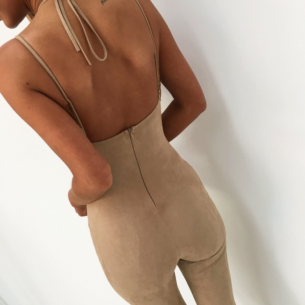 New Style 2018 Solid Color Romper Women Jumpsuit Sexy Lace Up Hollow Out Backless Jumpsuits Women Clothing Fashion Outfit Wear
