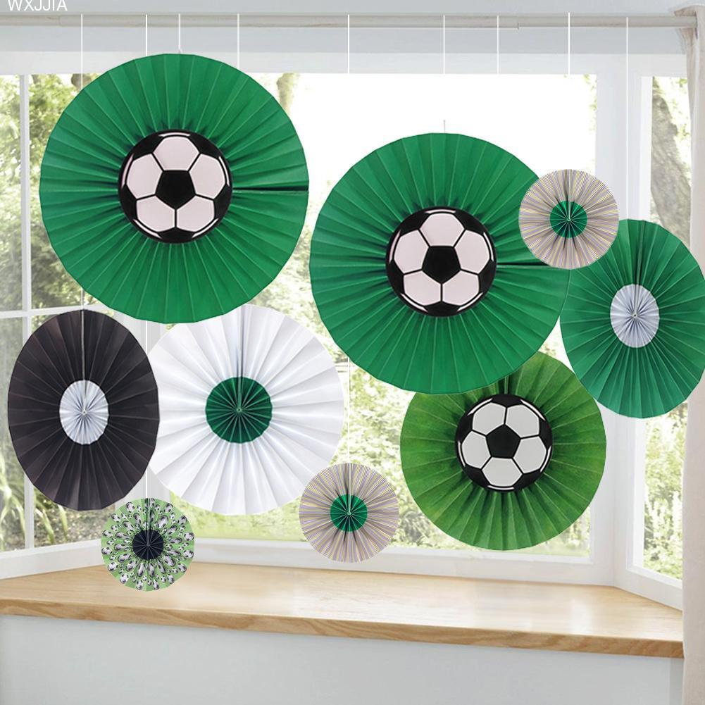 13pcsset Russia World Cup Theme Diy Party Hanging Paper Flower Fan