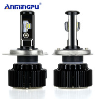 ANMINGPU 2pcs Upgrade Super Brightest H4 Led Bulb Canbus No Error Headlight Bulbs Hi Lo Lampada