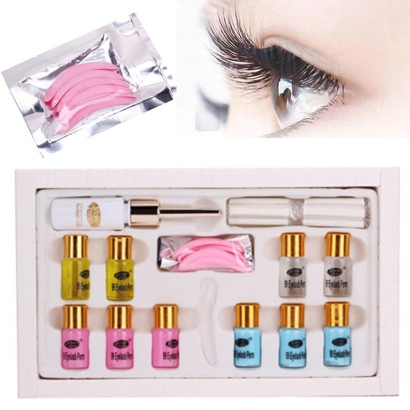 New 1 Set Pro Eyelashes Eye Lash Wave Curling Perming Rods Super Wave Lash Perm eyelash curling perming Glue Curler Kit