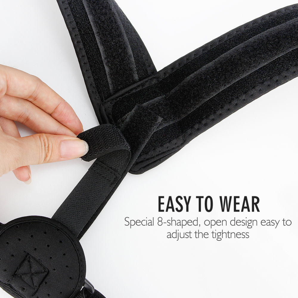 Upper Back Posture Corrector Belt with Adjustable Straps made of Comfortable and Breathable Cotton Material easy to Wear Underneath Cloth 2