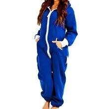 Adult Onesie For Women Men Couple Long Sleeve Winter Hooded Pajamas Set Black Blue Pajamas Set One Piece Cosplay Sleepwear