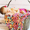 QYFLYXUE- free shipping,Chunky Knitted Crochet Blanket Mat Baby Newborn White balls blanket Photography Photo Prop 60*80cm