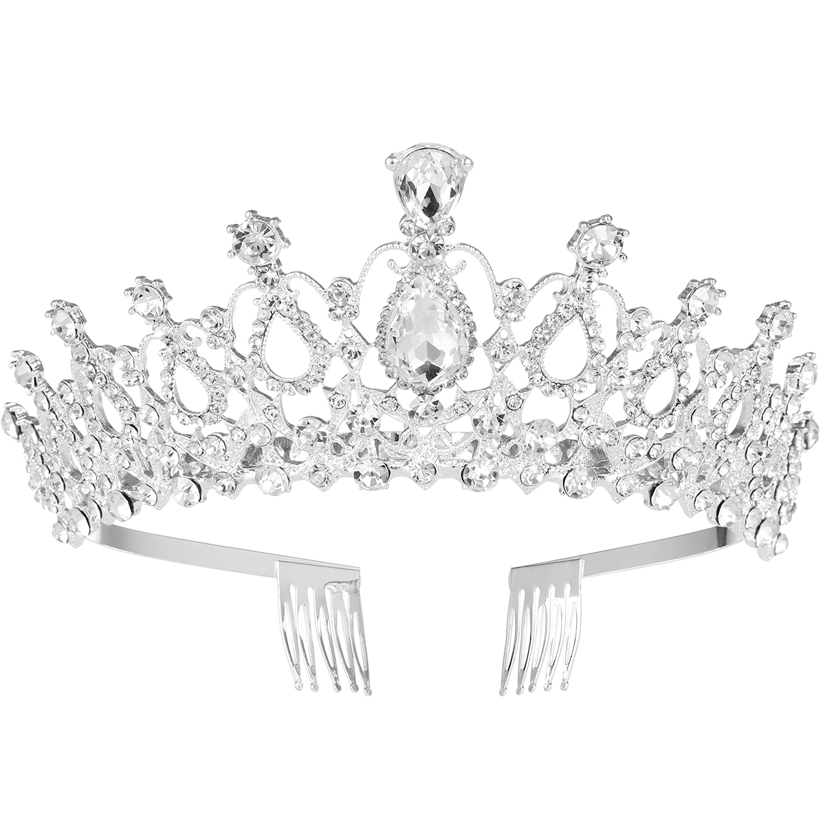 Bridal & Wedding Party Jewelry Sale 20% Off Hand Made Crystal Rhinestone Tiara Comb