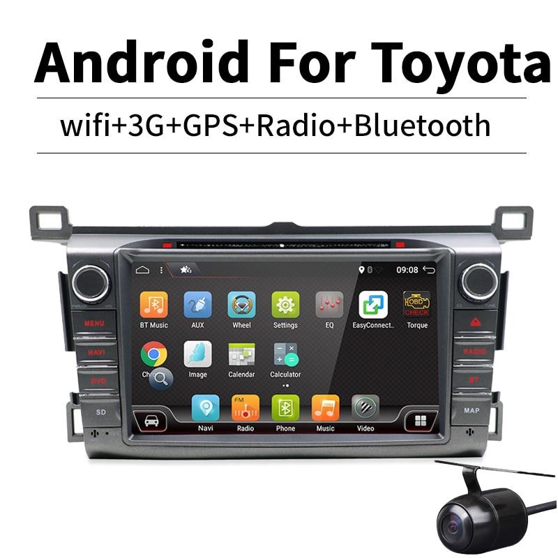 цена на HD 1024*600 Android 7.1 Quad Core 2GB RAM 16GB ROM Car DVD Player for Toyota RAV4 RAV 4 2013-2016 GPS Navigation Radio Stereo