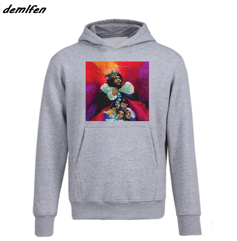 US $14 74 25% OFF|Kod J Cole Drake Hip Hop Rap Music Migos Kendrick Trap  Nas Dj Pump Sweatshirt Spring autumn Men's Fleece Hoodie Fashion jacket-in