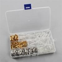 400PCS Cables Adapters Sockets Connectors Copper Splice Crimp Wire Terminals Spade Connector Copper Splice Crimp Wire