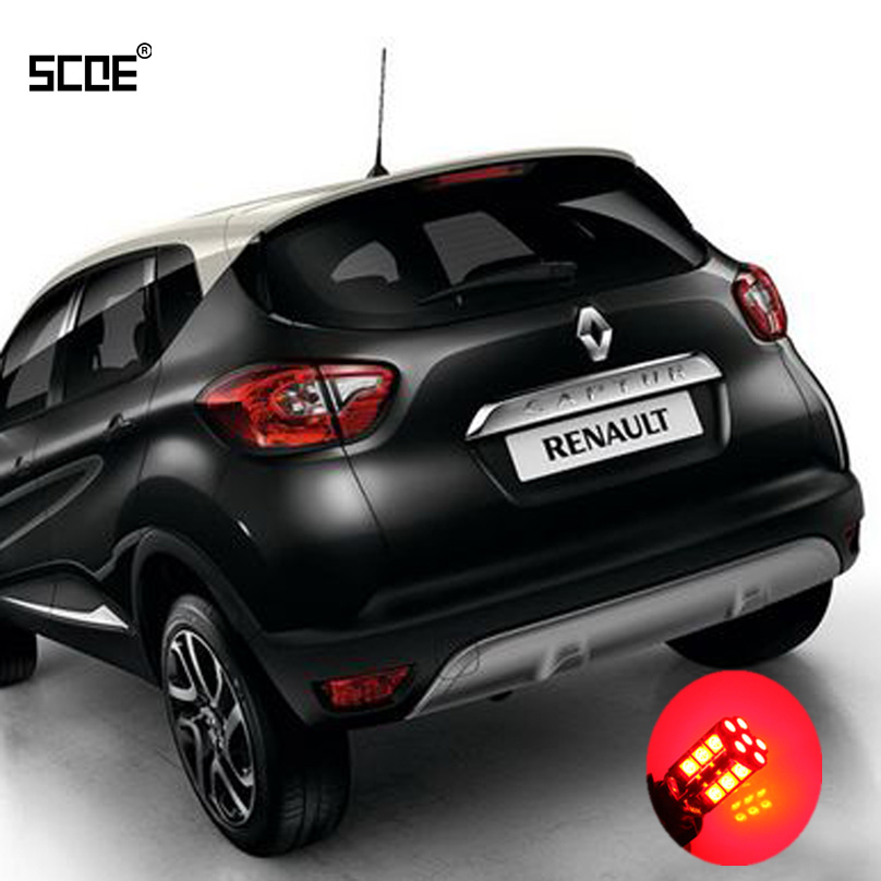 For <font><b>Renault</b></font> <font><b>Captur</b></font> SCOE 2015 New High Quality 2X 30SMD <font><b>LED</b></font> Brake /Stop /Parking Rear /Tail Bulb /Light Source Car Styling image