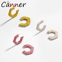 CANNER Creative Bohemian Earrings 2019 C Spaped Weave Drop/Dangle Jewelry for Women Earings Fashion FI
