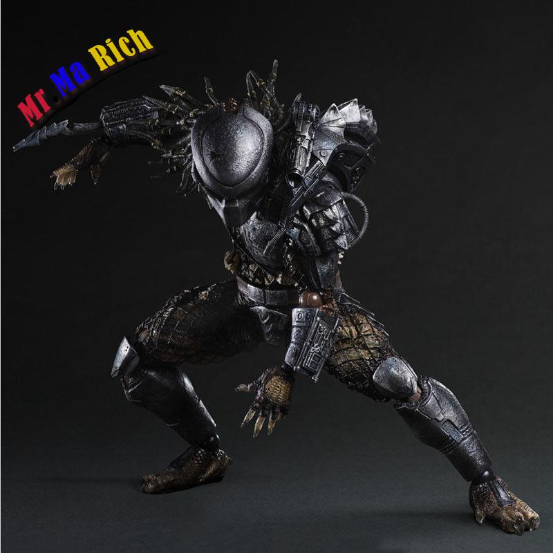 Play Arts Kai Alien Vs Predator P1 Pvc Action Figure Collectible Model Toy play arts kai street fighter iv 4 gouki akuma pvc action figure collectible model toy 24 cm kt3503