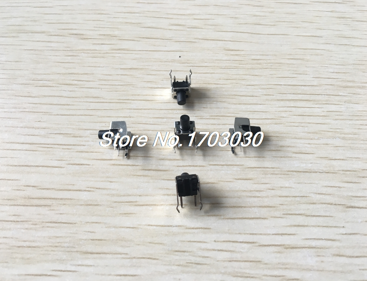 50pcs Electronic 2 Terminals Momentary Contact Micro Push Button Switches 50pcs lot 6x6x7mm 4pin g92 tactile tact push button micro switch direct self reset dip top copper free shipping russia