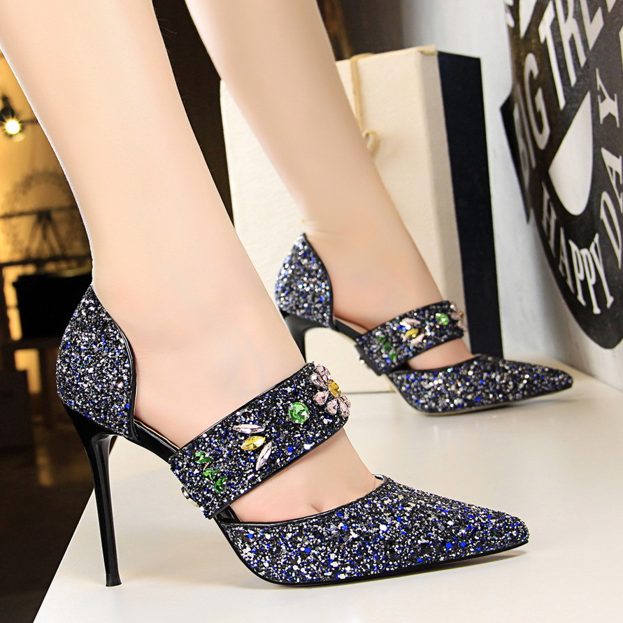 Detail Feedback Questions about Summer New Cinderella pointed high heels  Women Pumps Leather Rhinestones Wedding Shoes Woman Pointed Toe High Heels  Ladies ... b7431e0cf806